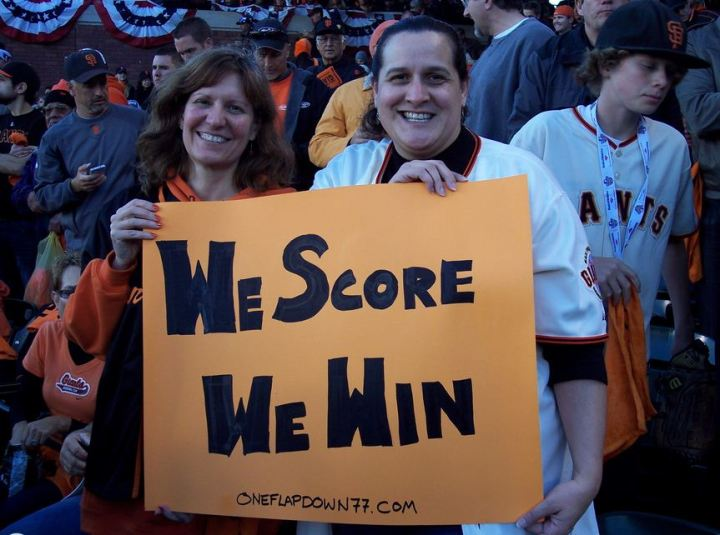 says it all photo of ferret and deb at NLCS game 7